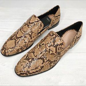 [Zara] NWT Snake/Crocodile Print Loafers Sz. 42
